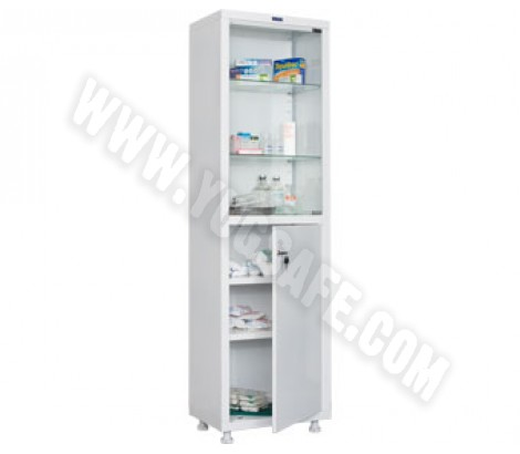 Медицинский шкаф одностворчатый HILFE МД 1 1657/SG