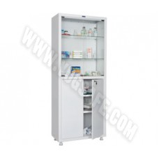 Медицинский шкаф двухстворчатый HILFE MED 2 1670/SG